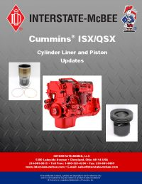Interstate-McBee Cummins ISX/QSX Cylinder Liner and Piston Updates
