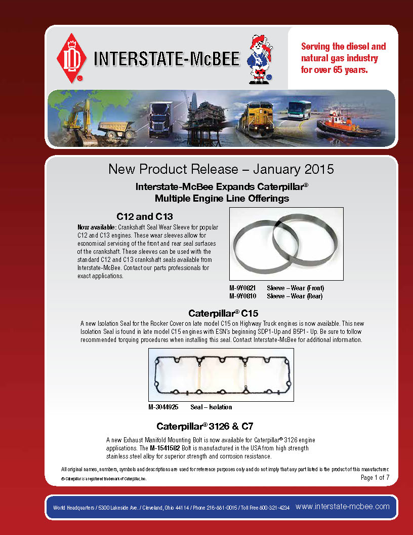 Interstate-McBee New Products Jan 2015