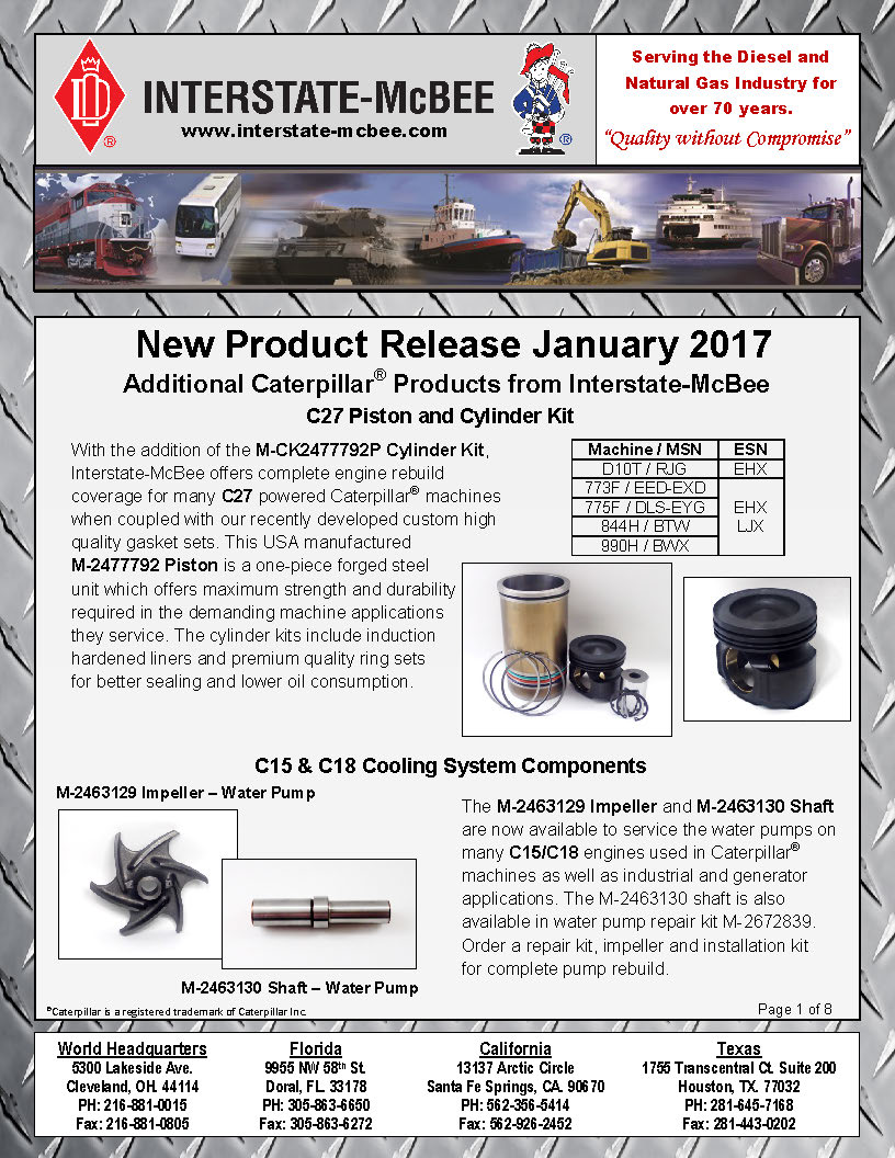 Interstate-McBee New Products January 2017