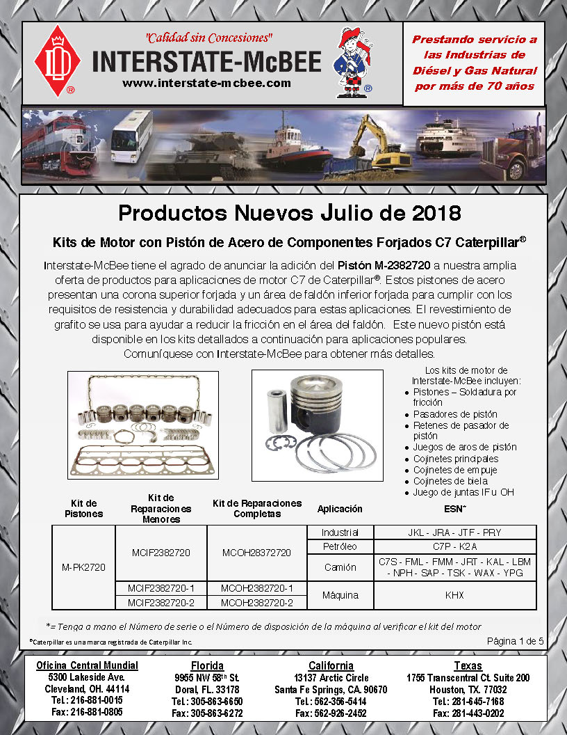 Interstate-McBee New Products July 2018