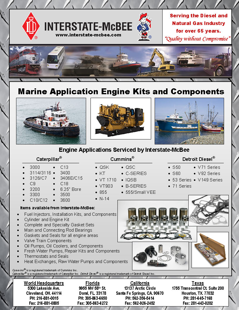 Interstate-McBee Marine Application Engine Kits and Components