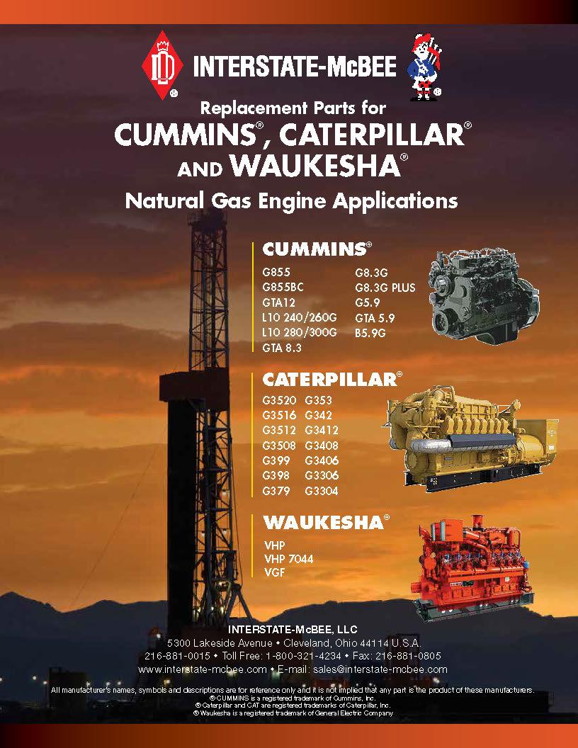 CUMMINS, Caterpillar and Waukesha Natural Gas Catalog