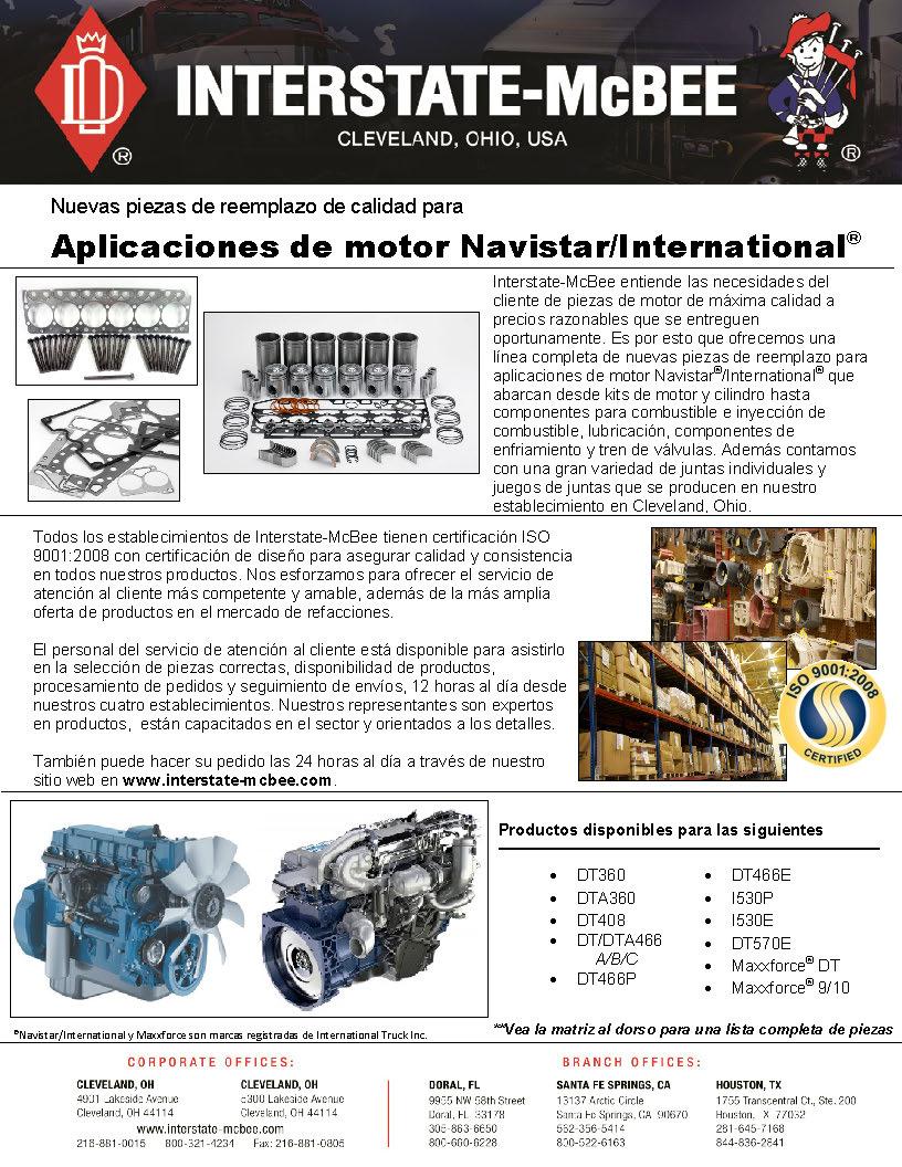 Navistar/International Engine Applications Spanish