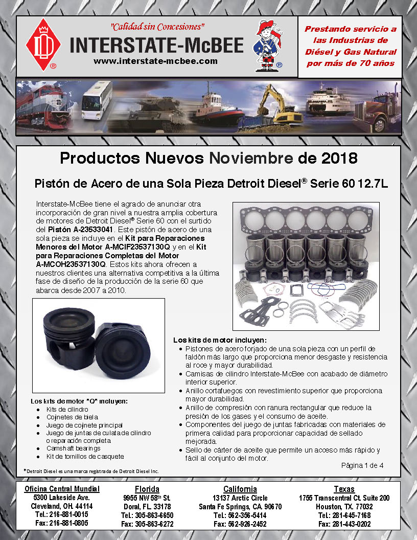 Interstate-McBee New Products November 2018