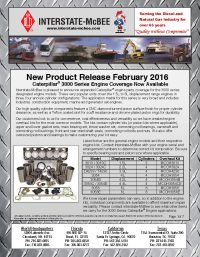 Interstate-McBee New Products February 2016