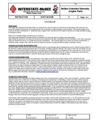 Interstate-McBee Extended Warranty