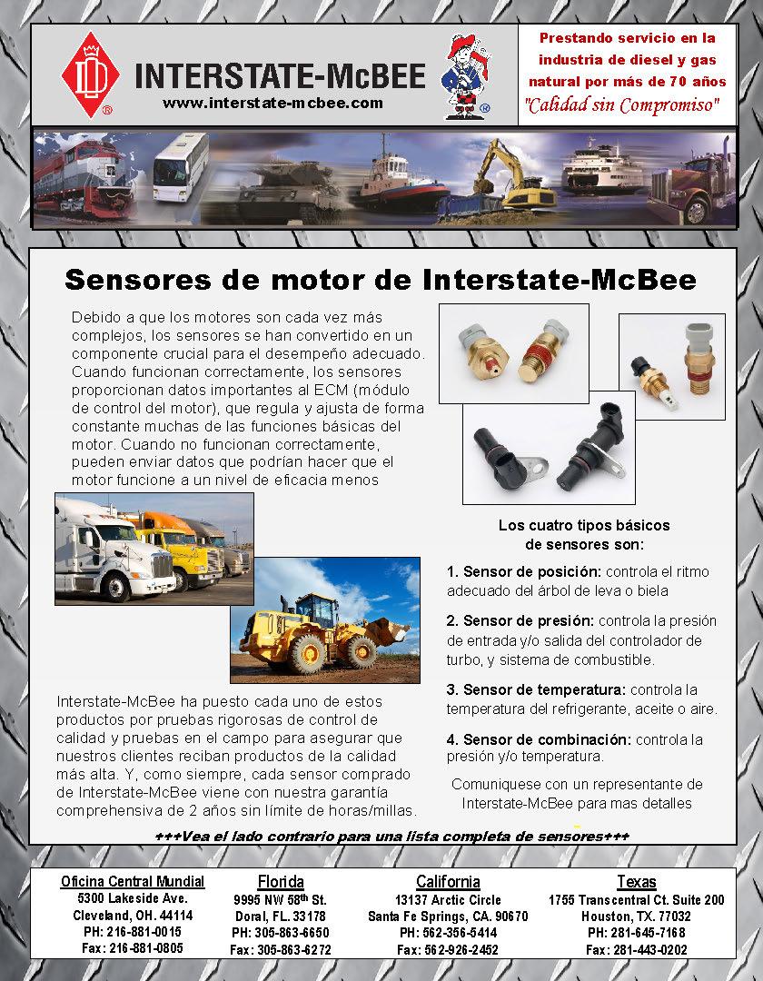 Interstate-McBee Engine Sensors