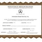 AARS 5356 Certificate