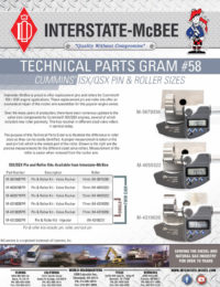 TPG#58 - ISX/QSX Pin & Roller Sizes