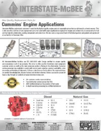 Cummins® Application Reference